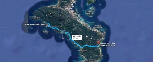 The way to Constance Ephelia Resort, Mahe Island