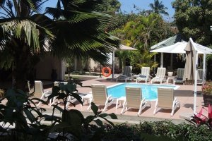 Hotel La Roussette Seychelles Swimming Pool Area and view