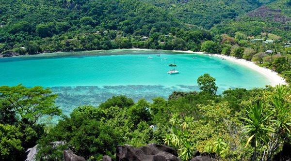 Popular Port Launay Beach Mahe Island Seychelles